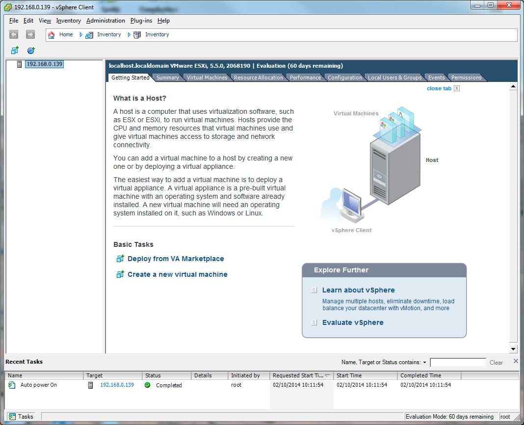 Instalar VMware ESXi 5.5