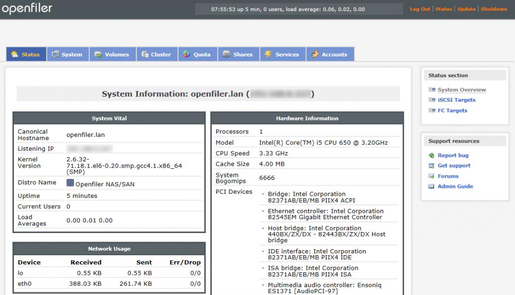Instalar Openfiler 2.99.1